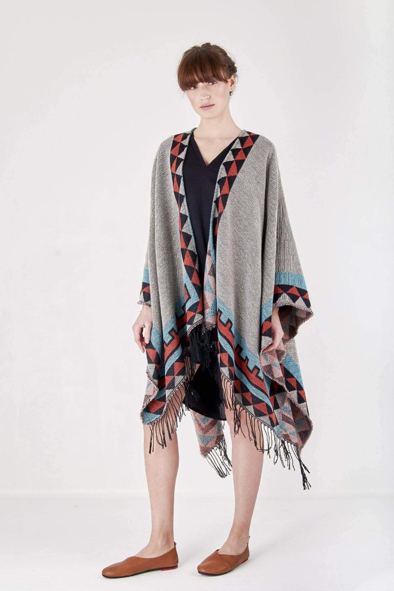Aztec Shawl Jacket-Loosely Store