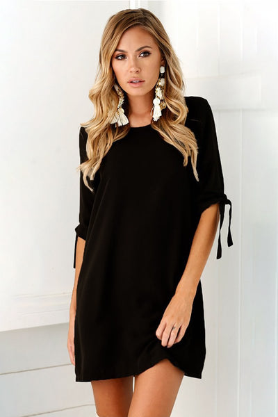 Bowknot Shirt Dress