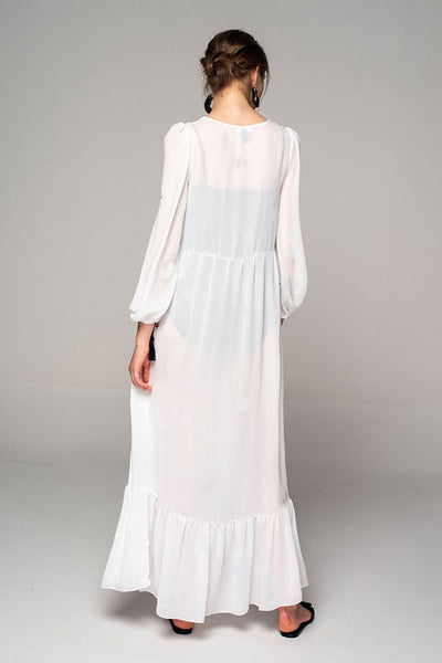 Electric Storm Maxi White Dress