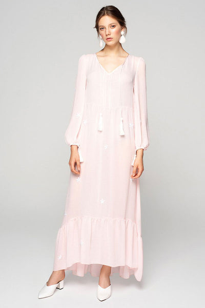 Soft Pink Embroidery Dress