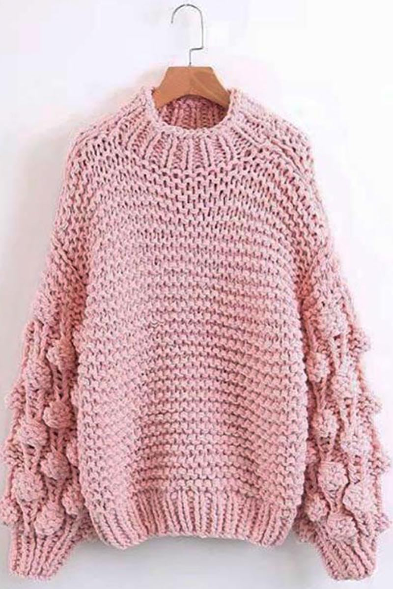 Extreme Chunky Knit Turtleneck Jumper-Loosely Store