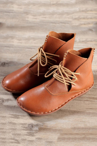 Handmade Leather Lace Up Boots