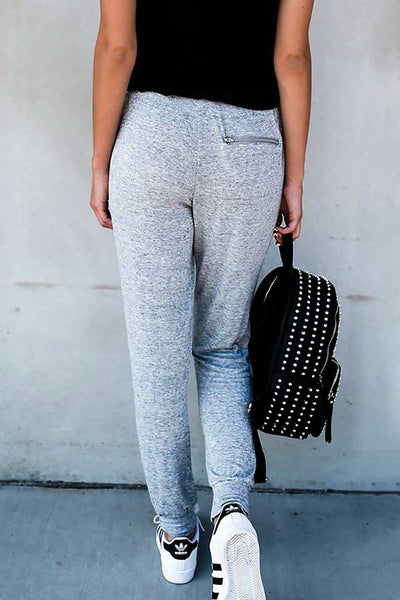 Gray Women's Casual Sports Harem Pants