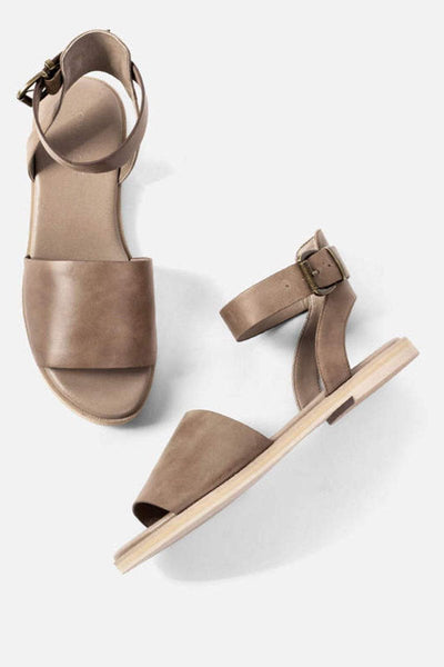 Leather Flat Sandals
