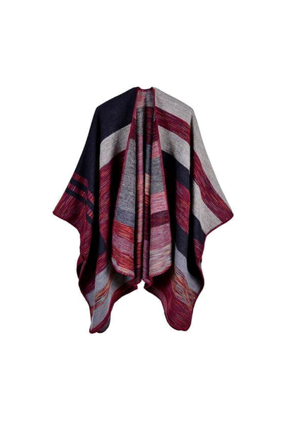 Patterned Striped Shawl Jacket