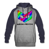 aeonpsRave - Colorblock Hoodie - heather gray/navy