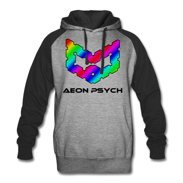 aeonpsRave - Colorblock Hoodie - heather gray/black