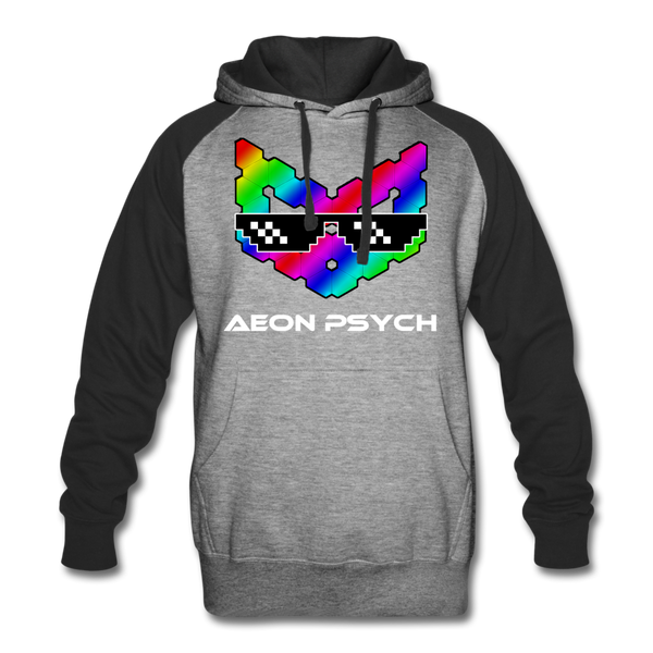 aeonpsEZ - Colorblock Hoodie - heather gray/black