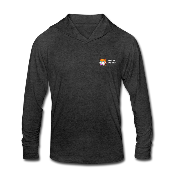 aeonpsSip - Minimalist Chest - Unisex Tri-Blend Hoodie Shirt - heather black