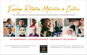 Employee Retention, Motivation & Culture — All Respondents Plus Age Range & Personality Type Segments