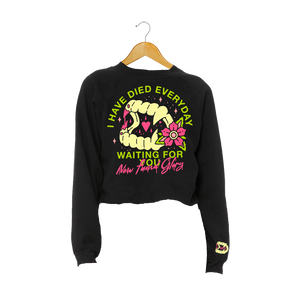 Vampire Fangs Crop Sweatshirt