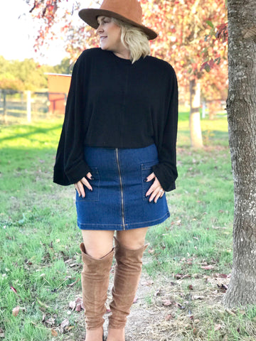 Cozy Casual Could Shoulder Sweater
