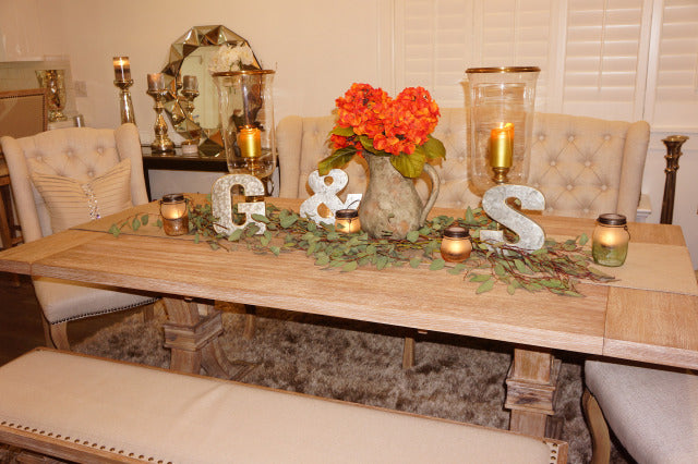 My Farmhouse Tablescape & Salmon Recipe