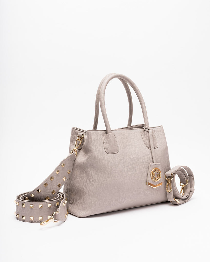 Celeste - Vegan Leather Shoulder Bag-Grey