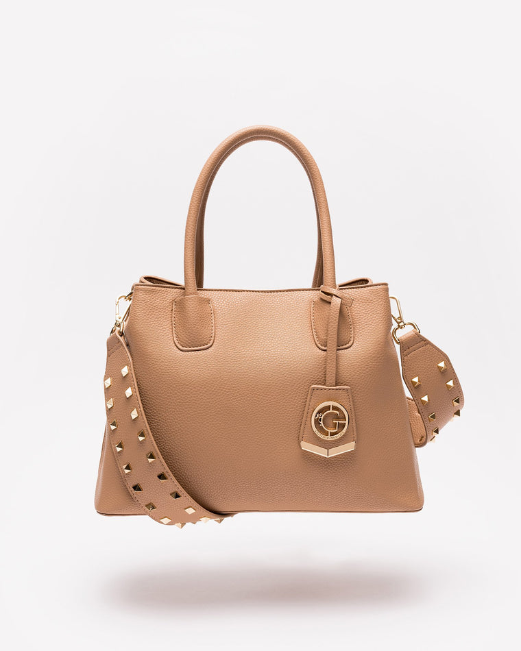 Celeste - Shoulder Bag in Nude