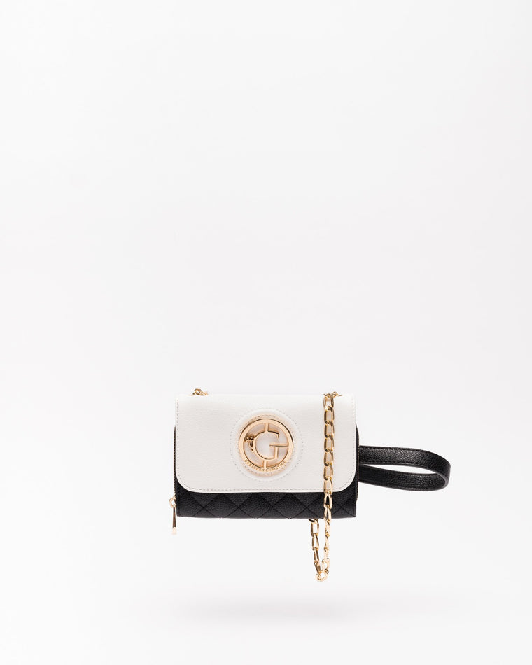 Kelsey - Crossbody Clutch in Black & White