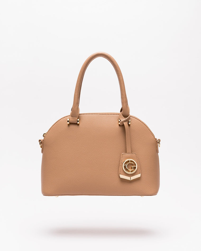 Devin - Dome Satchel in Nude
