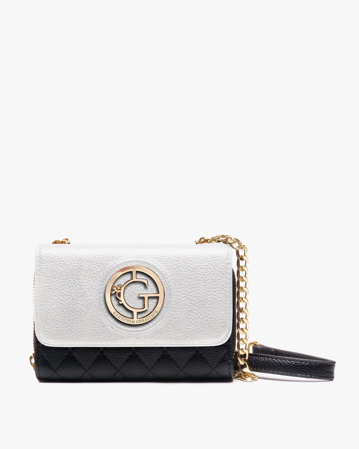 Kelsey - Vegan Leather Convertible Crossbody Clutch | White