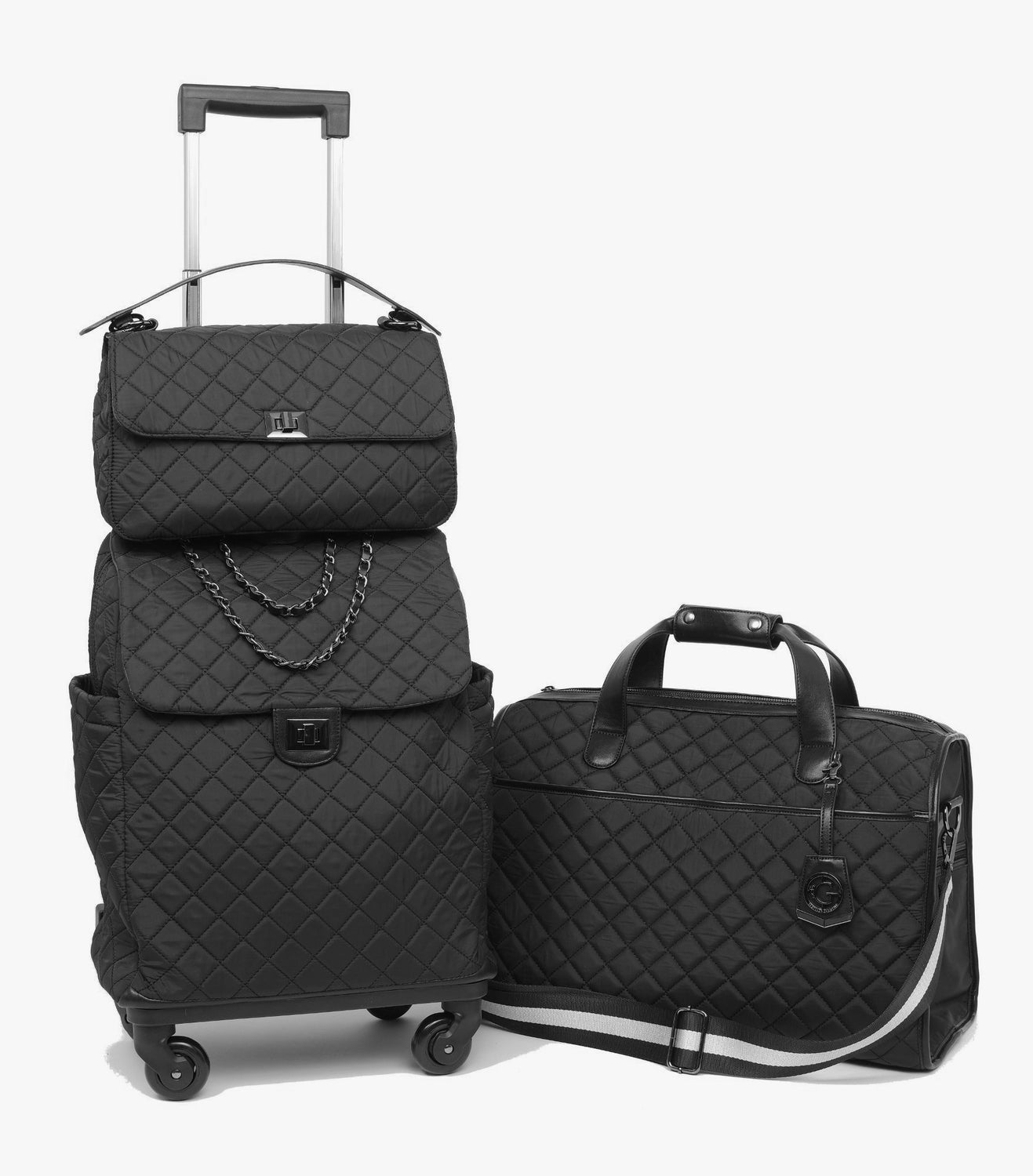 Voyageur Matelassé - The Quilted Traveler - Black