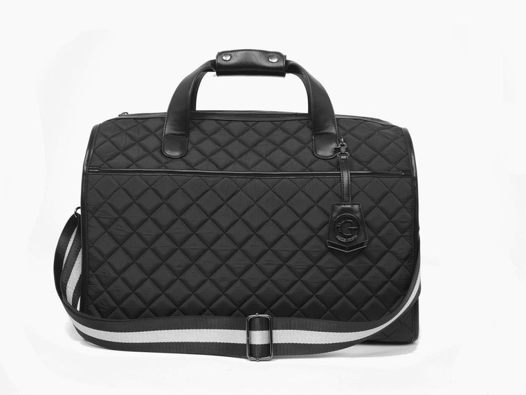 Duffle Matelassé - The Quilted Duffel in Black
