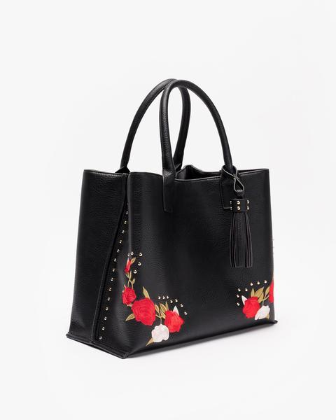 Jami Embroidered Convertible Tote and Wallet