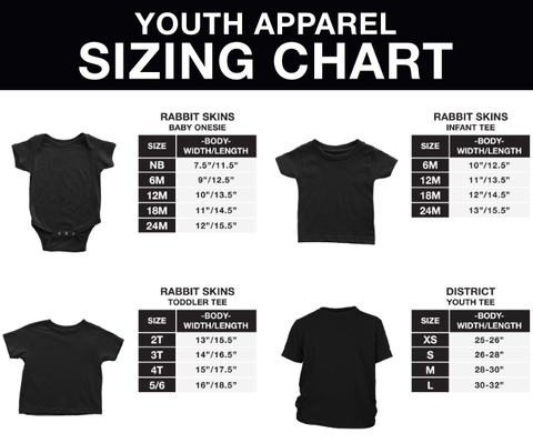 Distric Youth Sizing Chart