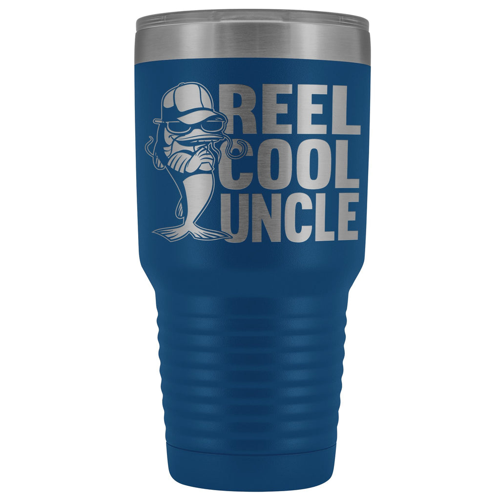 Reel Cool Uncle 30oz. Tumblers Uncle Travel Mug blue