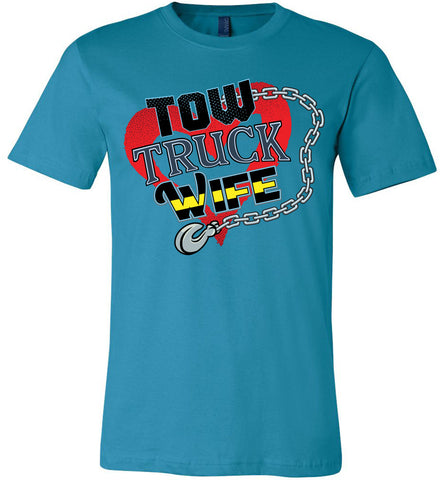 Image of Tow Truck Wife Shirts aqua