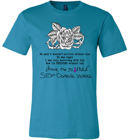 Domestic Violence T-Shirts aqua