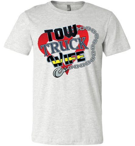 Image of Tow Truck Wife Shirts ash