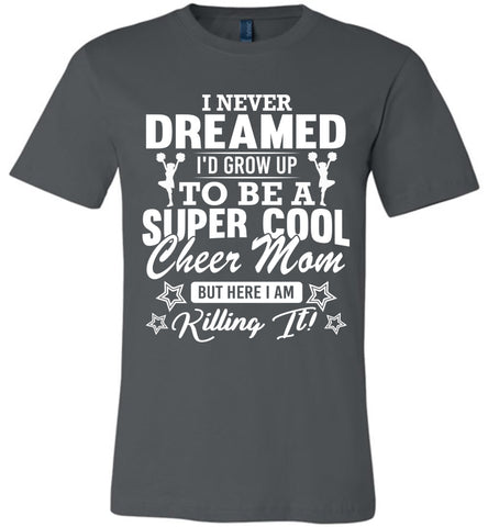 Super Cool Cheer Mom Shirts asphalt