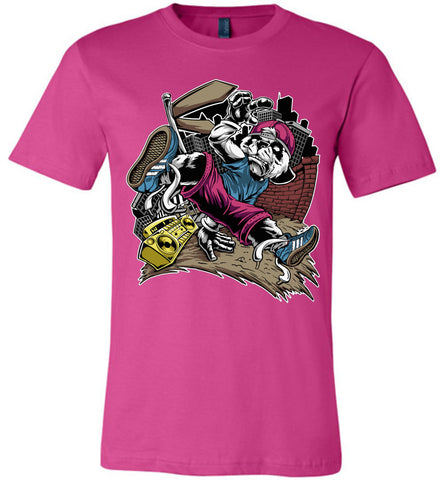 Image of Break Dance Panda Hip Hop T Shirts berry