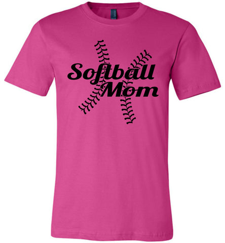 Image of Softball Mom Shirts berry