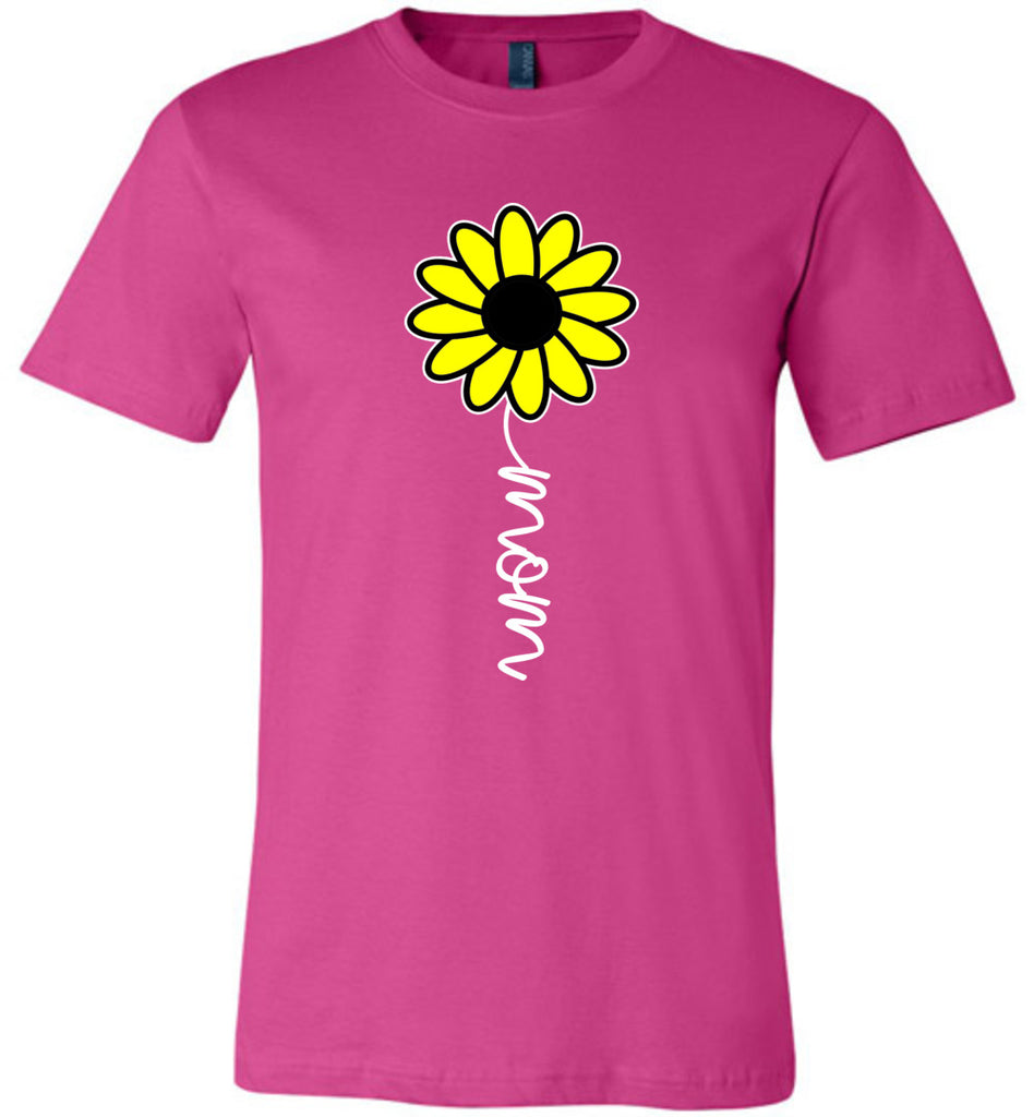 Sunflower Mom Shirt berry