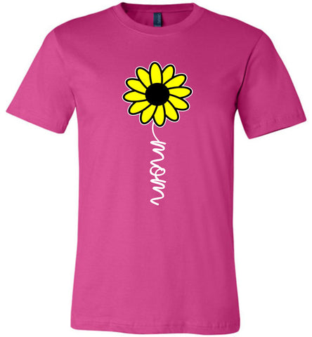 Image of Sunflower Mom Shirt berry
