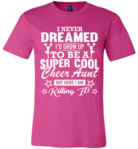 Super Cool Cheer Aunt Shirts berry
