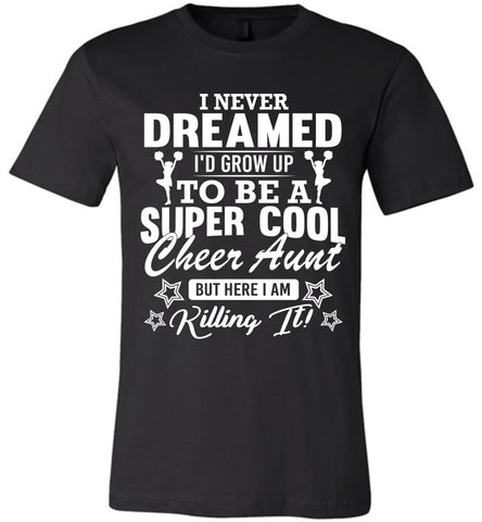 Image of Super Cool Cheer Aunt Shirts black