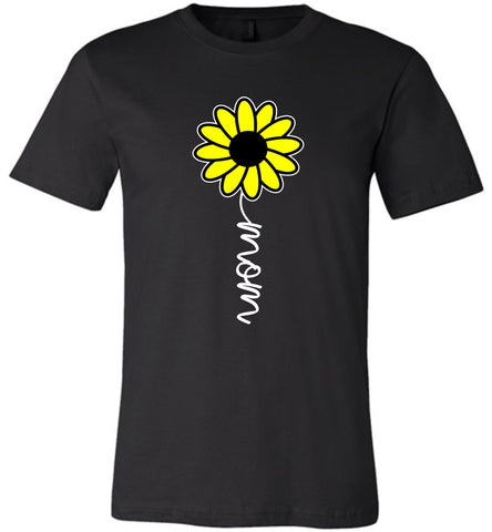 Image of Sunflower Mom Shirt black