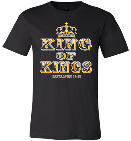 Image of King Of Kings Christian T-Shirts black