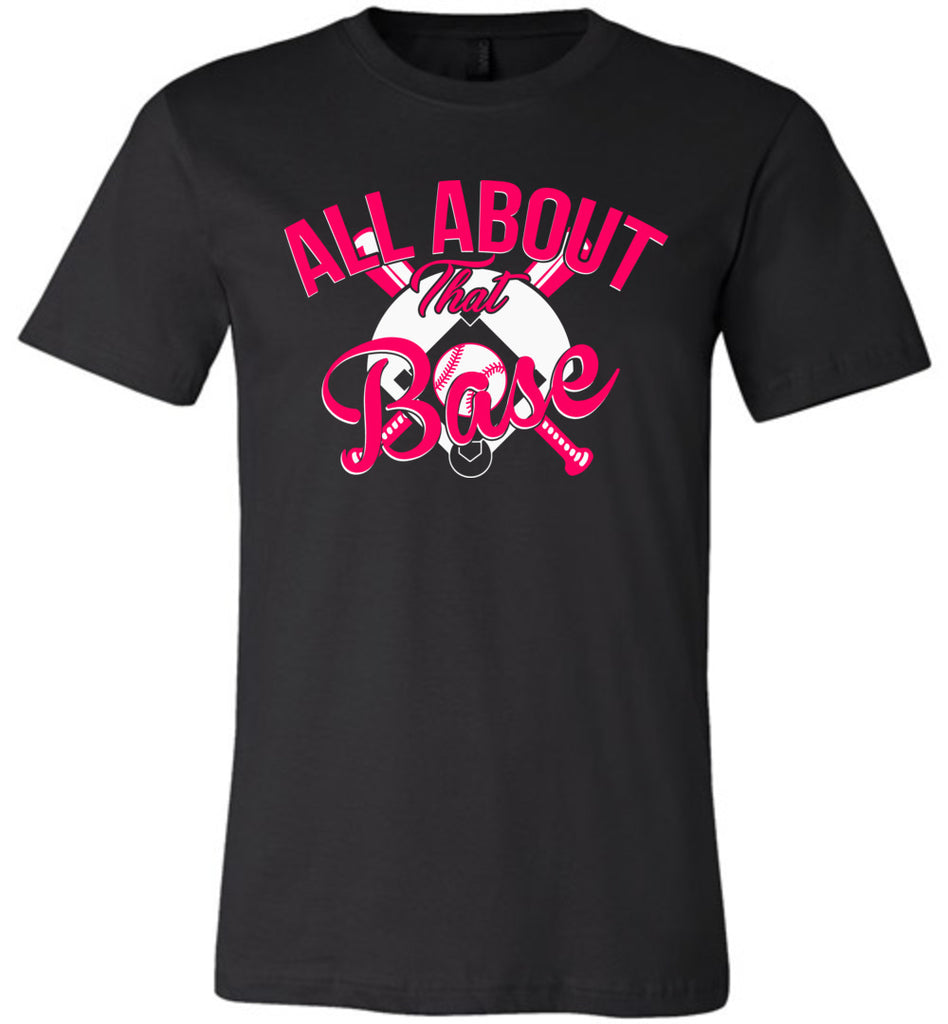 All About That Base Softball Shirts black