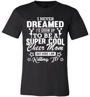Super Cool Cheer Mom Shirts black