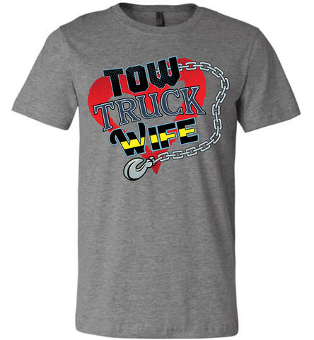Tow Truck Wife Shirts deep heather