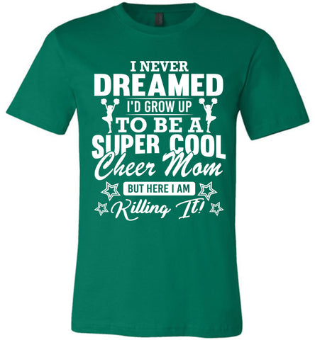 Image of Super Cool Cheer Mom Shirts kelly