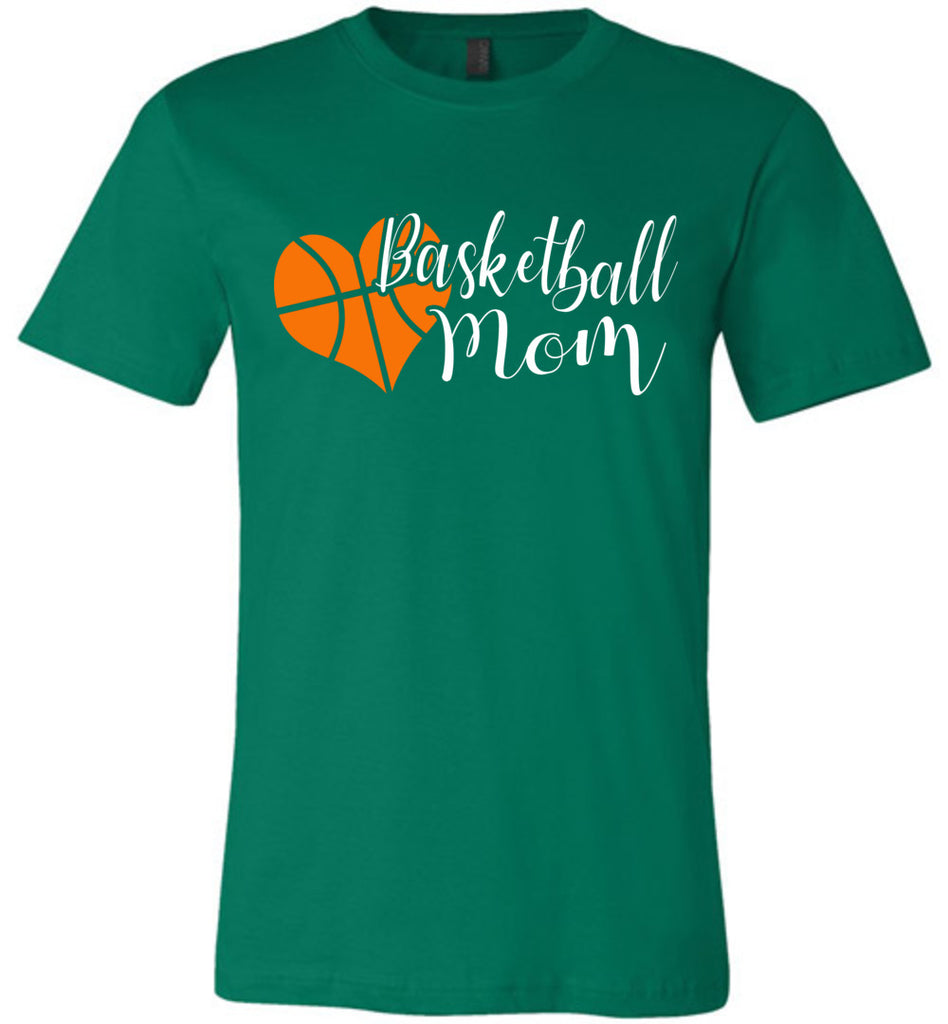 Basketball Mom T Shirts unisex Kelly green