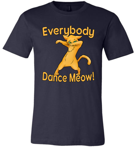 Everybody Dance Meow Funny Dance Shirts navy