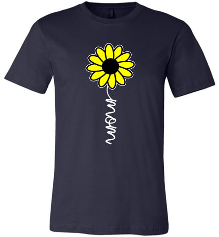 Image of Sunflower Mom Shirt navy