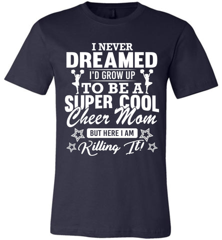 Image of Super Cool Cheer Mom Shirts navy