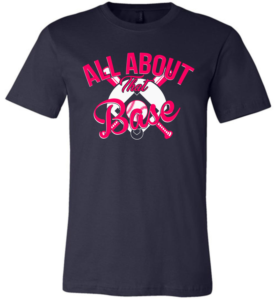 All About That Base Softball Shirts heather navy