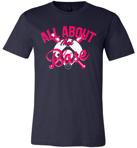 Image of All About That Base Softball Shirts heather navy