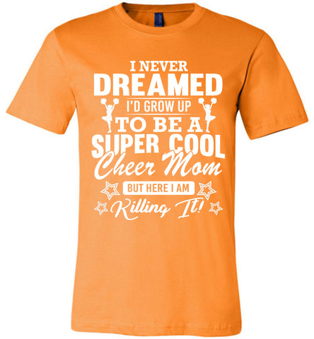 Super Cool Cheer Mom Shirts orange